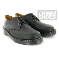 Vegetarian Shoes Black Airseal 3-Eye Shoe (men's & women's)