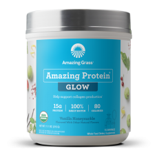 Amazing Grass Organic Amazing Protein Collagen Builder - Vanilla Honeysuckle (15 Servings) - 15% OFF!