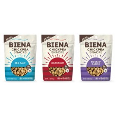 Biena Roasted Chickpea Snacks (5 oz. bag) - 3 flavor choices