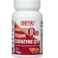Deva Nutrition Vegan Coenzyme Q10 (CoQ10) - 10% OFF!