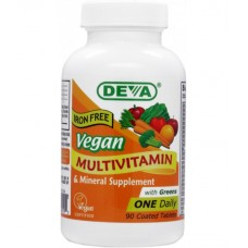 Deva Nutrition Vegan Iron-Free Multivitamin & Mineral with Greens  - 10% OFF!