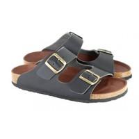 Vegetarian Shoes Black Two-Strap Sandal (men's & women's) - 10% OFF!
