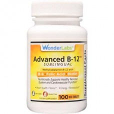 Wonderlabs Vegan Sublingual Bio-Available Vitamin B12