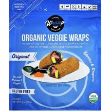 WrawP Organic Veggie Wraps - Original Turmeric & Oregano (3 wraps)