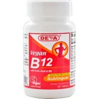 Deva Nutrition Vegan Vitamin B12 Sublingual 1000 mcg - 10% OFF!