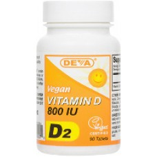 Deva Nutrition Vegan Vitamin D2 (800 IU) - 10% OFF!