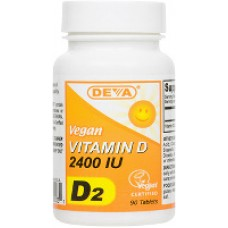 Deva Nutrition High Potency Vegan Vitamin D2 (2400 IU) - 10% OFF!