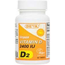 Deva Nutrition High Potency Vegan Vitamin D2 (2400 IU) - 10% OFF!